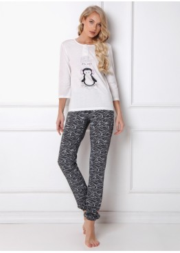 Пижама с брюками Arctic Peggy белый+серый, Aruelle (Литва)