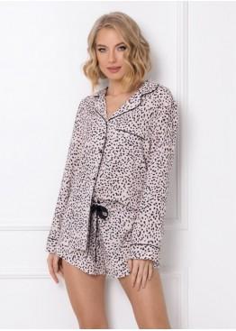 Пижама с шортами BERNADETTE черный+розовый, Aruelle (Литва)