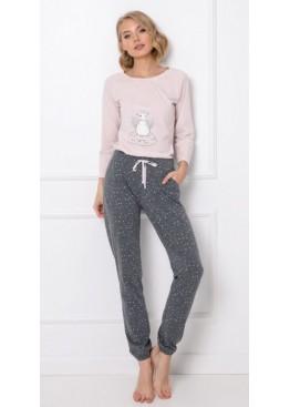Пижама с брюками DEBBIE св.розовый+графит, Aruelle (Литва)