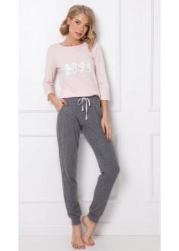 Пижама с брюками FIONA розовый+графит, Aruelle (Литва)