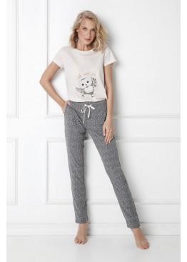 Пижама с брюками Owella экрю+серый, Aruelle (Литва)