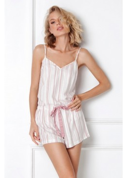 Пижама с шортами Paola св.розовый+белый, Aruelle (Литва)