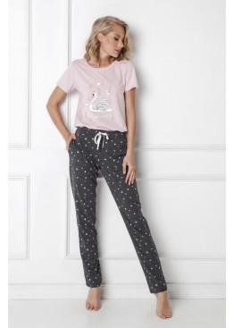 Пижама с брюками Sharon св.розовый+графит, Aruelle (Литва)