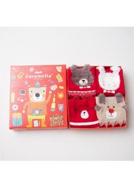 """Набор детских носков 561104 """"Мишка путешественник"""" 4 пары,Caramella(Китай)"""