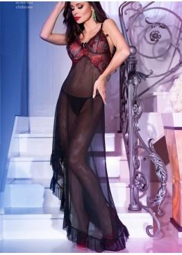 Платье 4251 черный+красный,ChiliRose(Польша)
