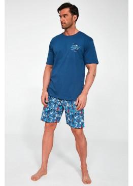 Пижама с шортами 326 Blue Dock2 джинс, Cornette (Польша)
