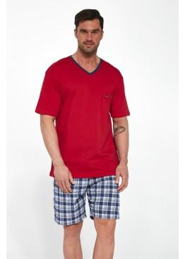 Пижама с шортами 329-1 красный+синий, Cornette (Польша)