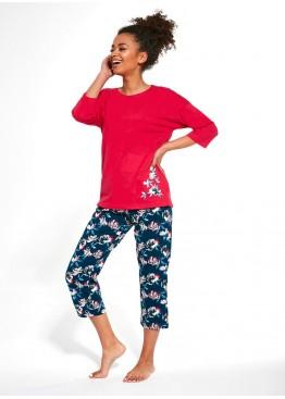 Пижама с бриджами 391 KATHERINE розовый+синий, Cornette (Польша)