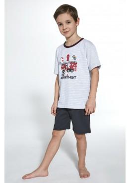 Пижама с шортами 473 Fire графит+серый, Cornette (Польша)