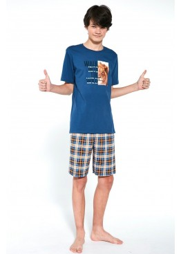 Пижама с шортами 551 WILD джинс+коричневый, Cornette (Польша)