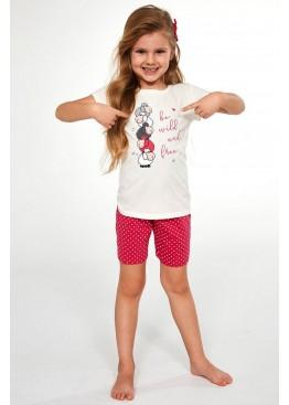 Пижама с шортами 787/788 Be Wild экрю+розовый, Cornette (Польша)