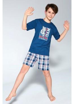 Пижама с шортами 789/790 TIGER джинс, Cornette (Польша)