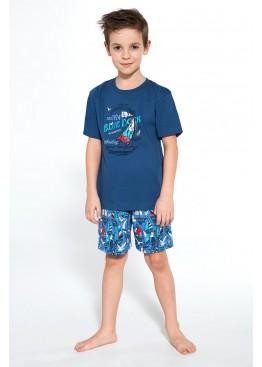 Пижама с шортами 789/790 Blue Dock джинс, Cornette (Польша)