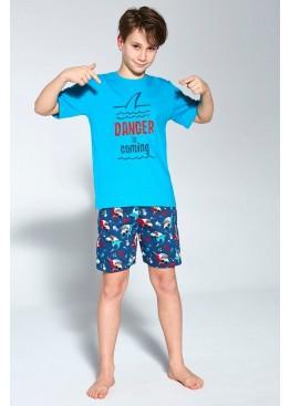 Пижама с шортами 789/790 Danger т.синий+бирюзовый, Cornette (Польша)