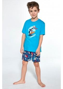 Пижама с шортами 789/790 Shark т.синий+бирюзовый, Cornette (Польша)