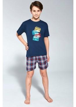 Пижама с шортами 789/790 Rock т.синий, Cornette (Польша)