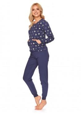 Пижама с брюками 4121 синий,Doctor Nap (Польша)