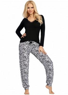 Пижама с брюками Bonnie черный+белый,Donna (Польша)