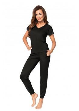 Пижама с брюками DEMI черный, Donna (Польша)