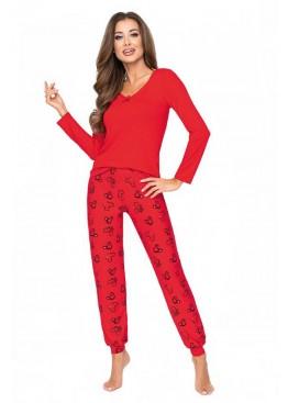 Пижама с брюками MIKA красный, Donna (Польша)