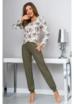 Пижама с брюками MILA KHAKI хаки, Donna (Польша)