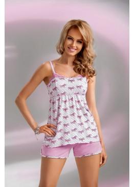 Пижама с шортами Tifani 1/2 розовый,Donna II(Польша)