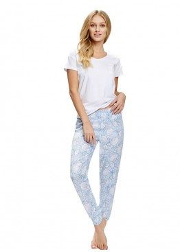 Пижама с брюками 36740 Shell белый+голубой Esotiq (Польша)