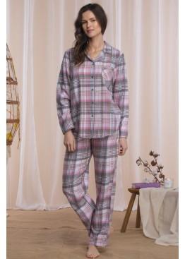 Пижама с брюками LNS 423 B21(Big) розовый+серый, KEY (Польша)