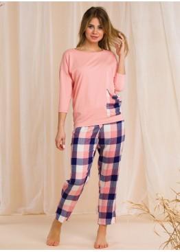 Комплект с брюками LNS 405 2 20/21 розовый + синий, KEY (Польша)
