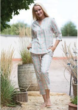 Пижама с брюками LNS 452-1 A21 св.розовый+синий, Key (Польша)