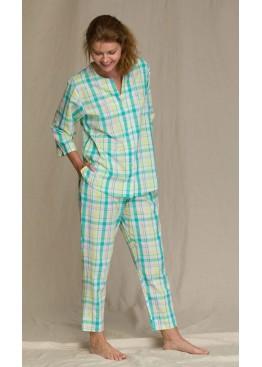 Пижама с брюками LNS 453-2 A21 зеленый+желтый, Key (Польша)