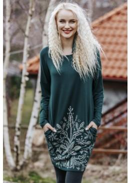 Платье домашнее LHD 802 19/20 зеленый,KEY(Польша)
