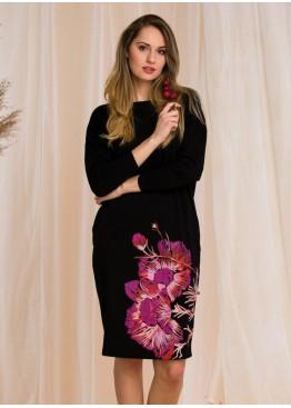 Платье LHD 902-20/21 черный+розовый, Key (Польша)