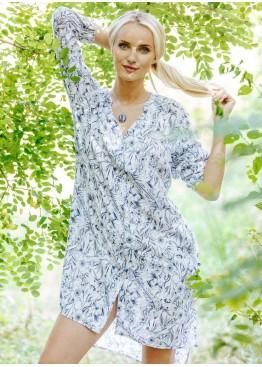 Рубашка-сорочка LHD-913 A20 белый+синий,KEY(Польша)