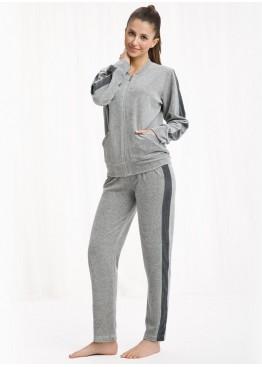 Костюм с брюками 303 Dres св.серый, Luna (Польша)