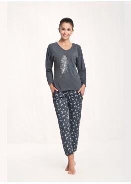Пижама с брюками 548 графит, Luna (Польша)