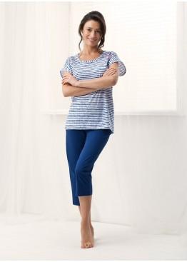 Пижама 569 синий+белый,Luna(Польша)