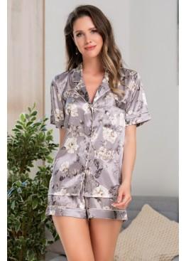 Комплект-двойка с шортами 3208 Gracia серый, Mia-Amore (Италия)