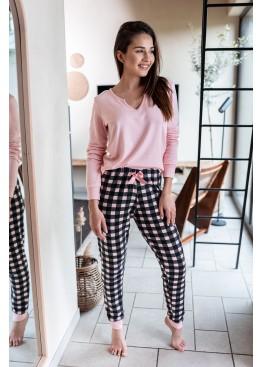 Пижама с брюками FEMME св.розовый+графит, Sensis (Польша)