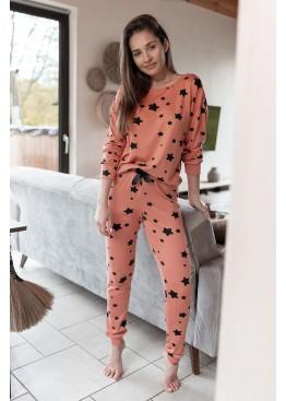 Пижама с брюками My Way коралл+черный, Sensis (Польша)