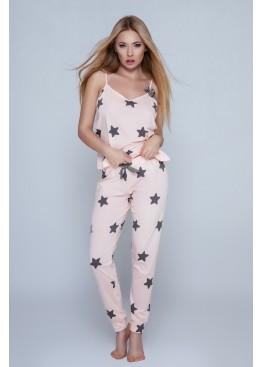 Пижама с брюками Rafaela персиковый+черный, Sensis (Польша)