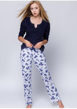 Пижама Rosalia т.синий+серый,Sensis(Польша)