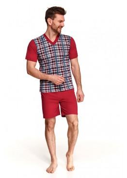 Пижама с шортами 002/001/294 SS21 Roman красный, Taro (Польша)