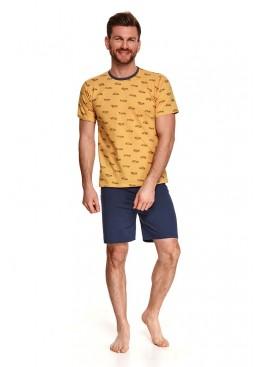 Пижама с шортами 072 SS21 MAX желтый+синий, Taro (Польша)