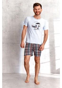 Пижама с шортами 2086 SS21 SZYMON св.серый+красный, Taro (Польша)
