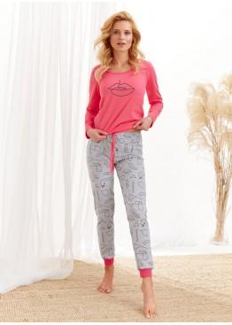 Пижама с брюками 2124 AW20/21 Nora розовый+серый, Taro (Польша)