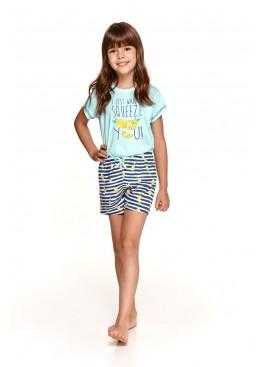 Пижама с шортами 2200/2201 SS21 Hania бирюза+синий, Taro (Польша)