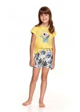 Пижама с шортами 2200/2201 SS21 Hania желтый+синий, Taro (Польша)