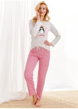 Пижама с брюками 2226-S20/21 Maja бежевый+красный, Taro (Польша)