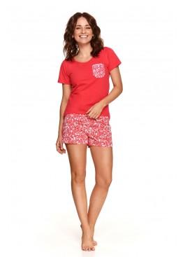 Пижама с шортами 2499 SS21 Agnes красный+белый, Taro (Польша)
